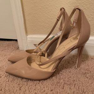 Jessica Simpson Nude Patent Leather Heels 7.5